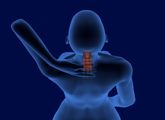 Pain in the neck x-ray scan