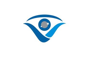 eye letter v logo