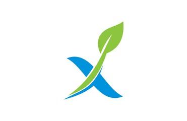 letter x ecology logo