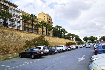 the medieval walls of Lefkosia, Nicosia Cyprus