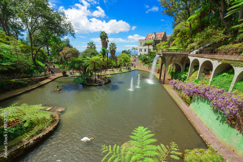 Fototapete View of Monte Palace Tropical Garden. Funchal, Madeira Island, Portugal
