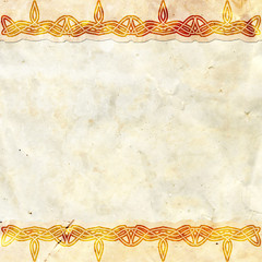 Old paper with celtic pattern