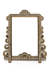 retro photo frame isolated on white