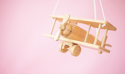 Picture of the wooden toy plane