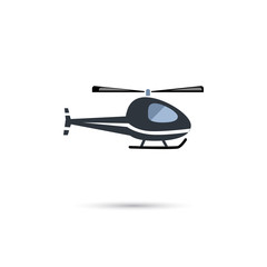 Travel helicopter icon