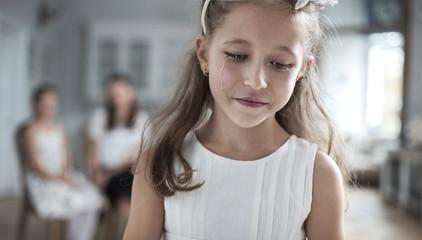 Portrait of a miserable girl
