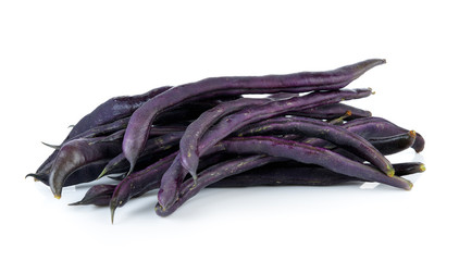 Purple bean on white background