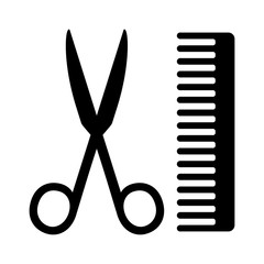 Hairstylist or hairdresser salon flat icon for apps, barbershops and websites
