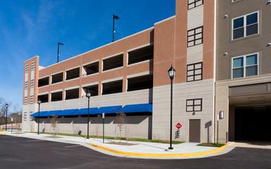 New parking garage exterior