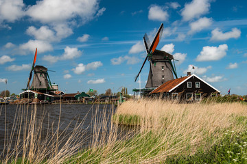 Fotobehang Molens Windmill, Holland countryside