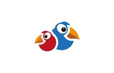 two bird logo vctor