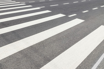 Zebra Crossing with Empty Traffic