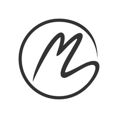 Initial M Stroke Circle