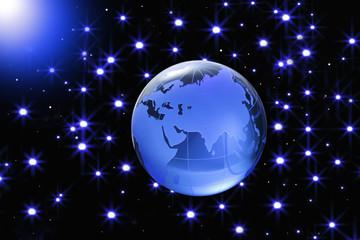 Globe of the World.Eurasia