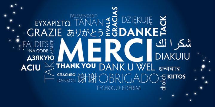 merci multilingue - bleu