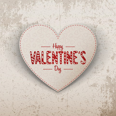 Papiers peints Affiche vintage Happy Valentines Day realistic paper Heart Label