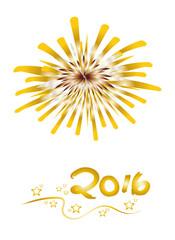 Silvester - Frohes Neues Jahr - Glückwunschkarte zum Jahreswechsel 2016