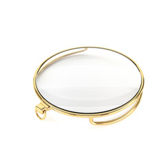 Gold monocle, isolated on a white background. 3d illustration.