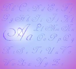 Cursive Letters Set