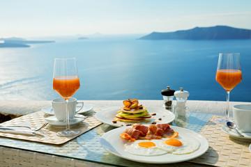 Fresh Breakfast near the sea