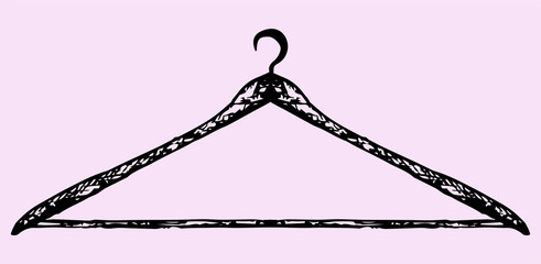 coat hanger, doodle style, sketch illustration