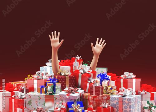 Uomo sommerso pacchi regalo natale immagini e fotografie for Sito regali gratis