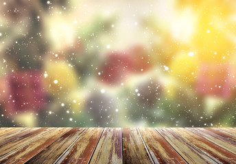 Christmas and happy new year 2016, blossom and vintage design,motion blur background