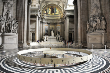 PANTEON, PARIS, FRANCE - JULY 17, 2010: famous Pantheon interior. UNESCO World Heritage Site.
