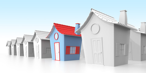 Home market and real estate concept