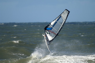 windsurfer in der nordsee
