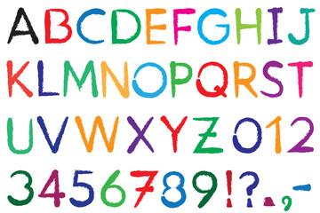 Font. Alphabet. #3.