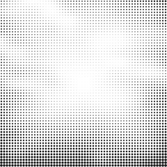 Halftone vector background. Abstract halftone effect with black dots on white background