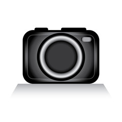 Camera icon.Clip art. Sleek and handy.trendy and modern.