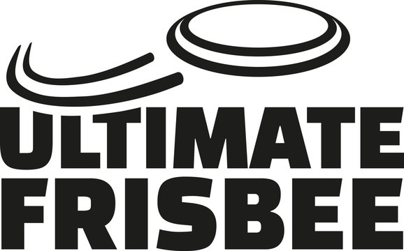 Ultimate frisbee with flying frisbee