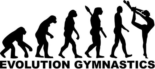 Evolution gymnastics with clubs