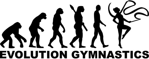 Evolution gymnastics with ribbon