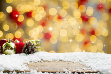 Christmas background with abstract bokeh.