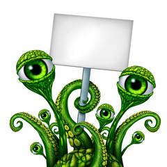 Space Alien Creature Sign