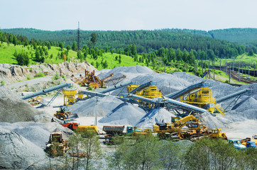 The mining and crushed stone production