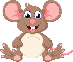 illustration of Cute baby mouse cartoon