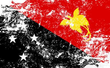 Papua New Guinea Grunge Texture Flag