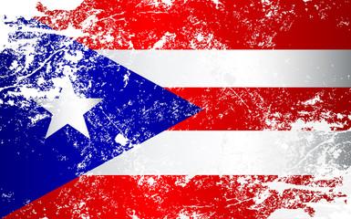Puerto Rico Grunge Texture Flag