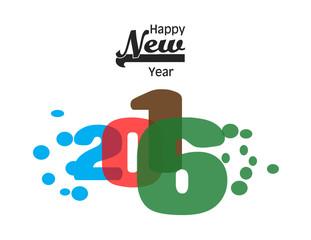 new year 2016 creative design