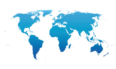 blue vector map of the world