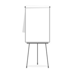 Simple flipchart vector template isolated on white.