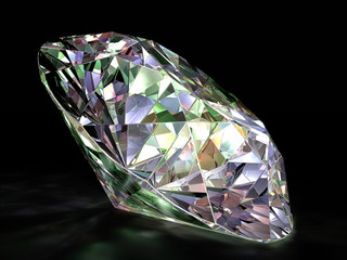 Render of a diamond on a black background.