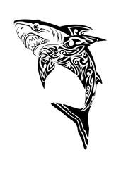 hideous shark tattoo