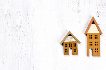 wooden houses background - property concept