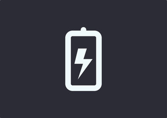 Battery Charger Icon Logo