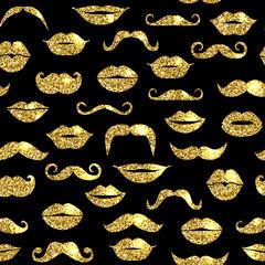 Glitter seamless fashion pattern in gold.